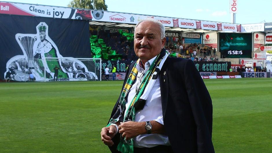 Paul Gludovatz im Rieder Stadion