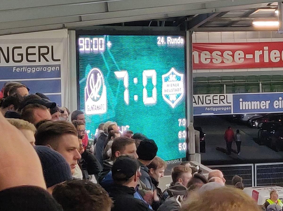 7-0 gegen Wiener Neustadt